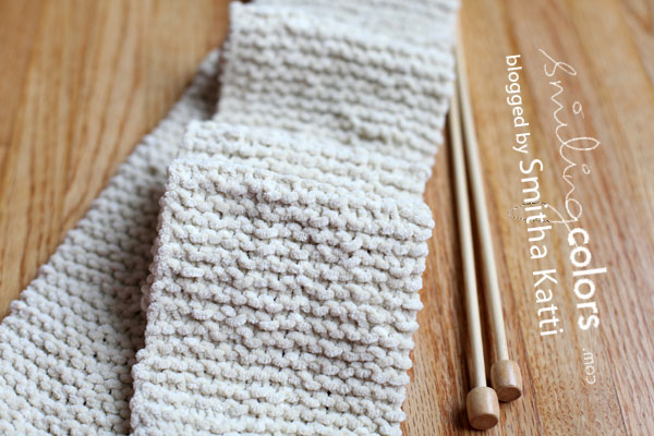 Learn how to knit a scarf for beginners - Smitha Katti