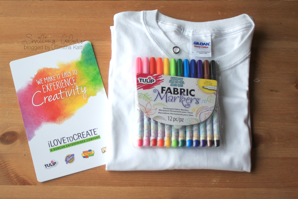 Make it with your kids: Personalized T-shirt and Tote - Smitha Katti: smilingcolors.com/2015/04/make-kids-easy-gifts-family