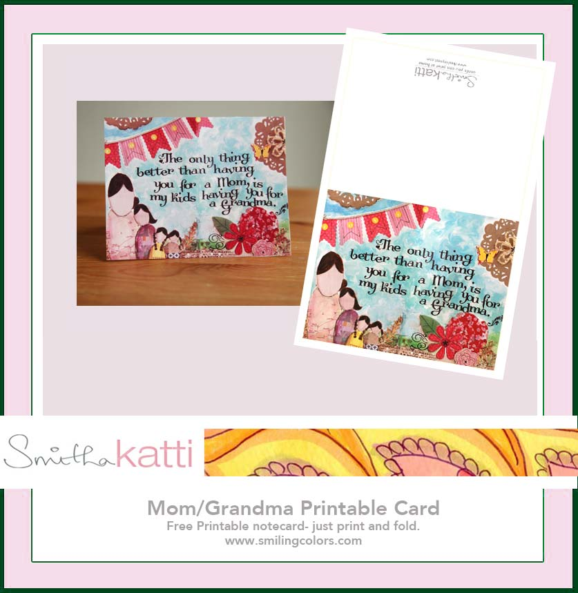 Printable Mothers Day Cards For: Free Printable Mothers Day Card For Grandma