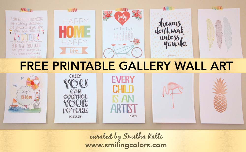 This is a photo of Vibrant Gallery Wall Printables