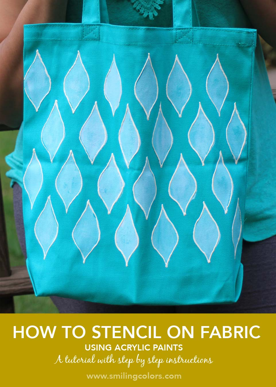 How to stencil on fabric with acrylic paints Smitha Katti