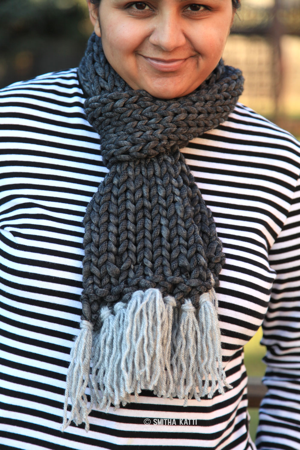 Quick Knit Scarf with Free Pattern - Smitha Katti