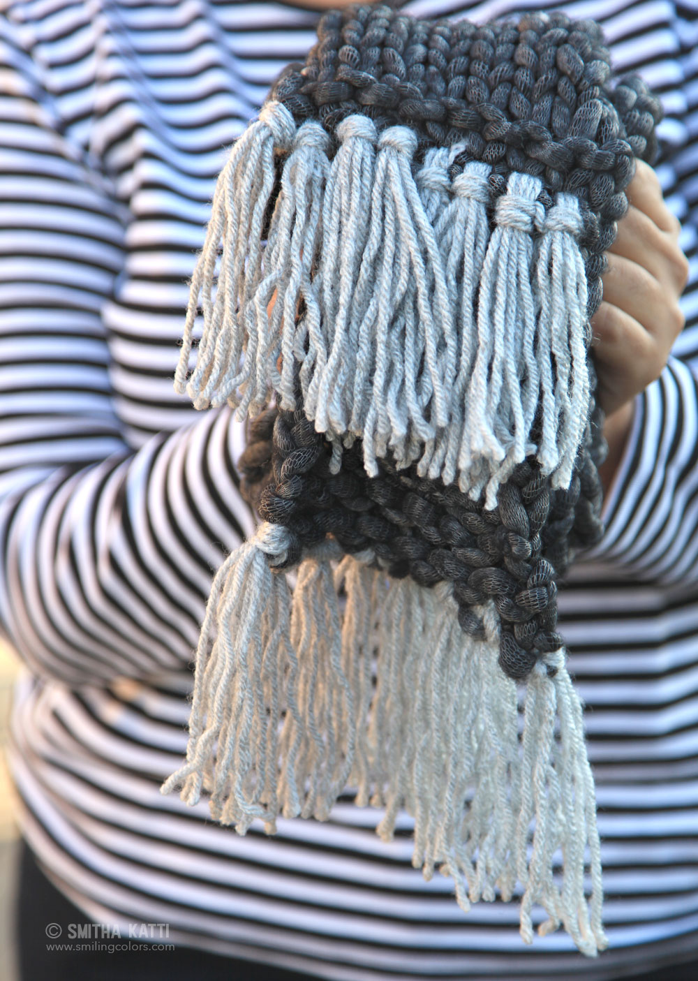 Knit Quick Patterns : Quick Knit Scarf with Free Pattern - Smitha Katti