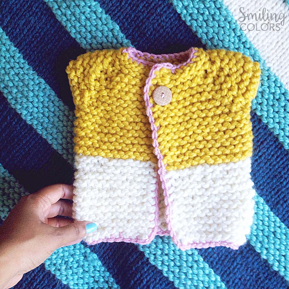 quick and easy baby sweater that I knit in one night