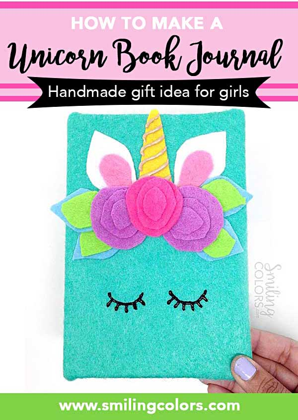 Book Cover Ideas For Girls : How to make an unicorn book tutorial