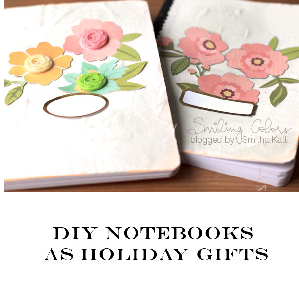Diy composition notebooks as holiday gifts here is what i gathered to make these notebooks a composition notebook a patterned paper with bold flowers a label sheet some acrylic paint mightylinksfo