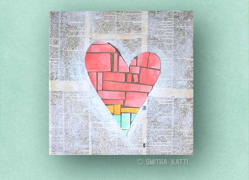 Easy Diy Wall Art Heart On Canvas Smitha Katti
