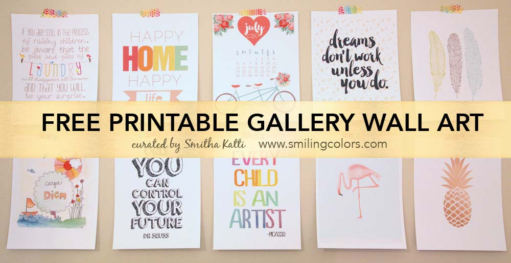 Printable gallery wall art that will make your room look new ...