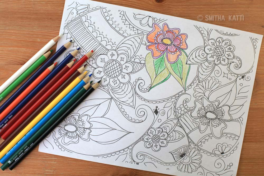 Adult Coloring Pages Download - Smitha Katti