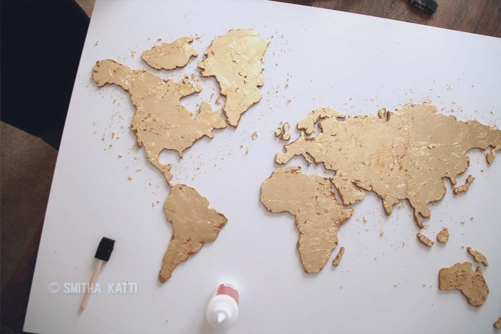 Diy World Map DIY World map wall art that is easy to make and unique   Smitha Katti