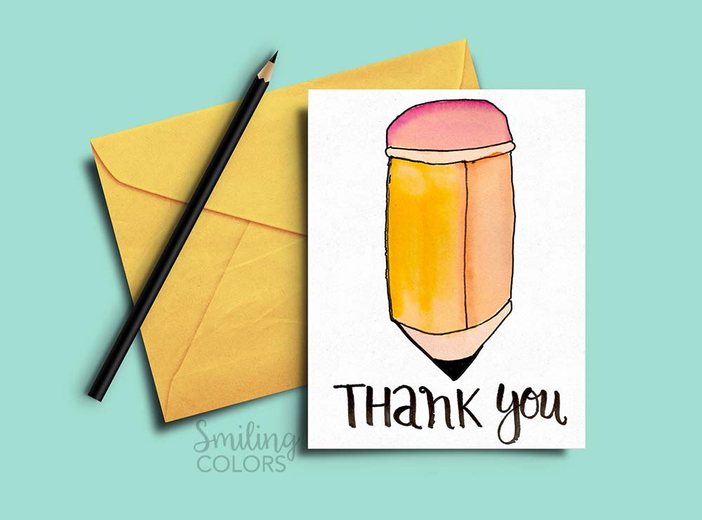 23d9bc2e002b6 Thank you card for Teacher and School Bus Driver with FREE Printables