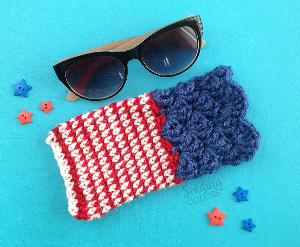 One hour crochet project Sunglass case with a FREE pattern