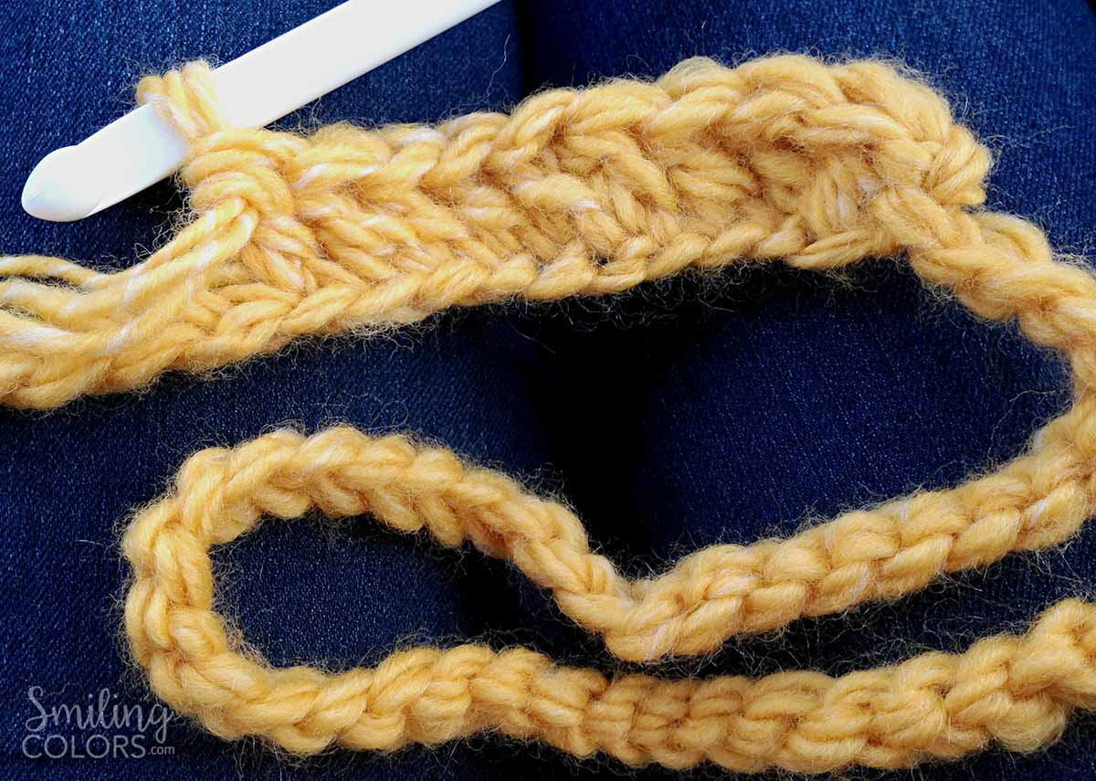 Easy Double Crochet Scarf That You Can Make Using Just One Skein Of Yarn