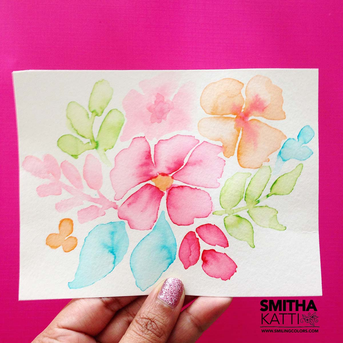 Watercolor Flowers Easy Video Tutorial