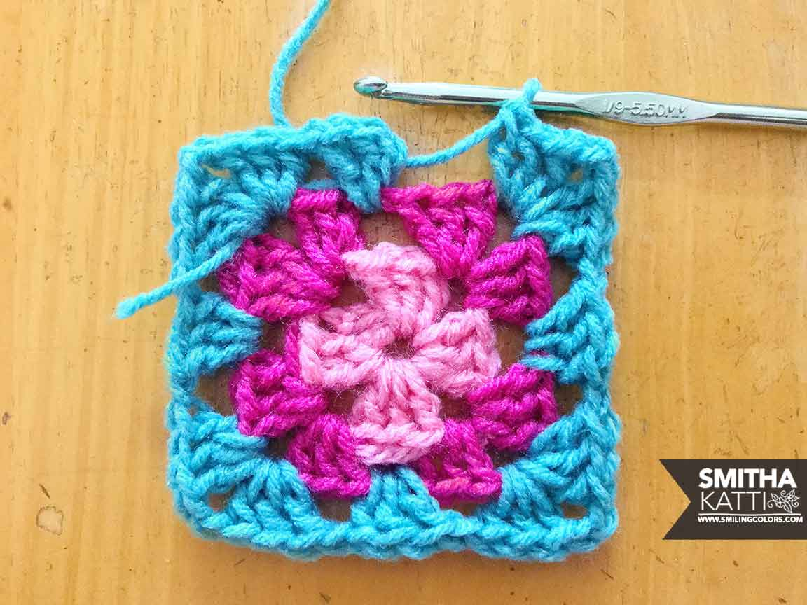 Basic Granny Square Pattern With Easy Step By Step Photo Smitha Katti