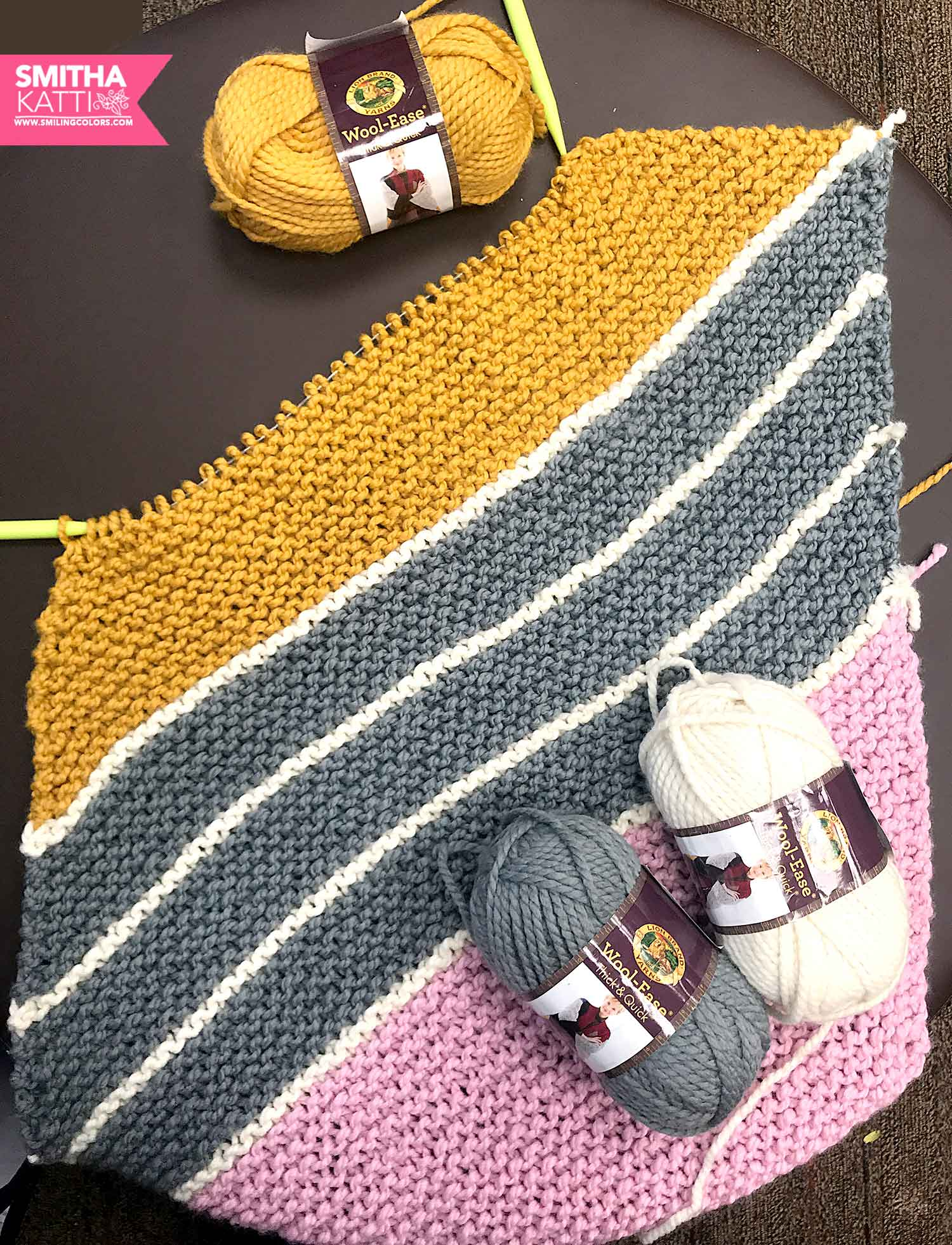 How To Knit A Diagonal Rectangle Tutorial To Make A Baby Blanket In 5 Days